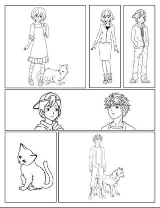 Комікси з персонажами манґи