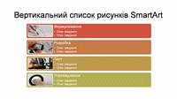 Різнокольоровий на білому тлі слайд SmartArt із вертикальним списком зображень (широкоформатний)