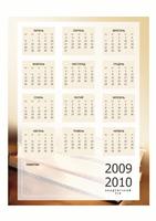 Календар на 2009-2010 академічний рік (1 стор., Пн-Пт)