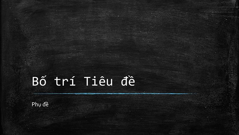 Bản trình bày giáo dục bảng đen (màn hình rộng)