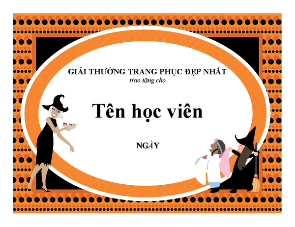 Giải thưởng trang phục Halloween đẹp nhất