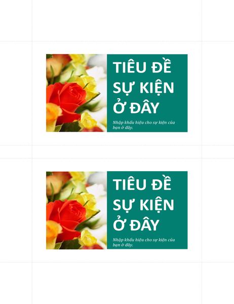 Bưu thiếp quảng bá (2 bưu thiếp mỗi trang)