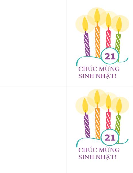 Thiếp dấu mốc sinh nhật (2 thiếp mỗi trang, dành cho Avery 8315)