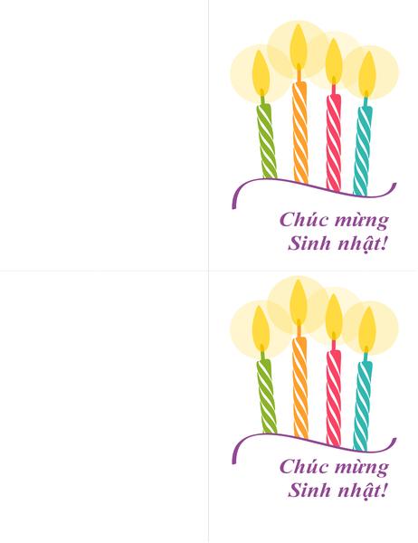 Thiếp sinh nhật