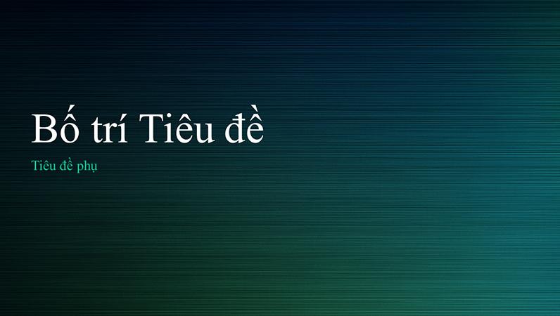 Bản trình bày kim loại xước màu lục (màn hình rộng)