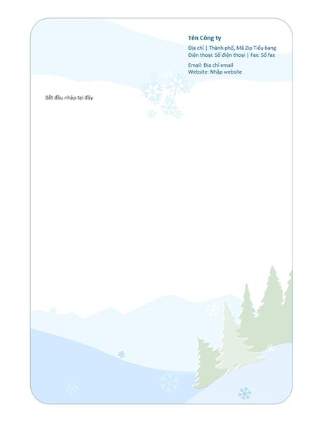 Mẫu giấy viết thư mùa đông