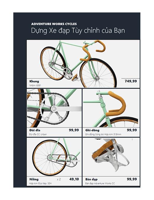 Danh mục sản phẩm Excel 3D (Mô hình xe đạp)