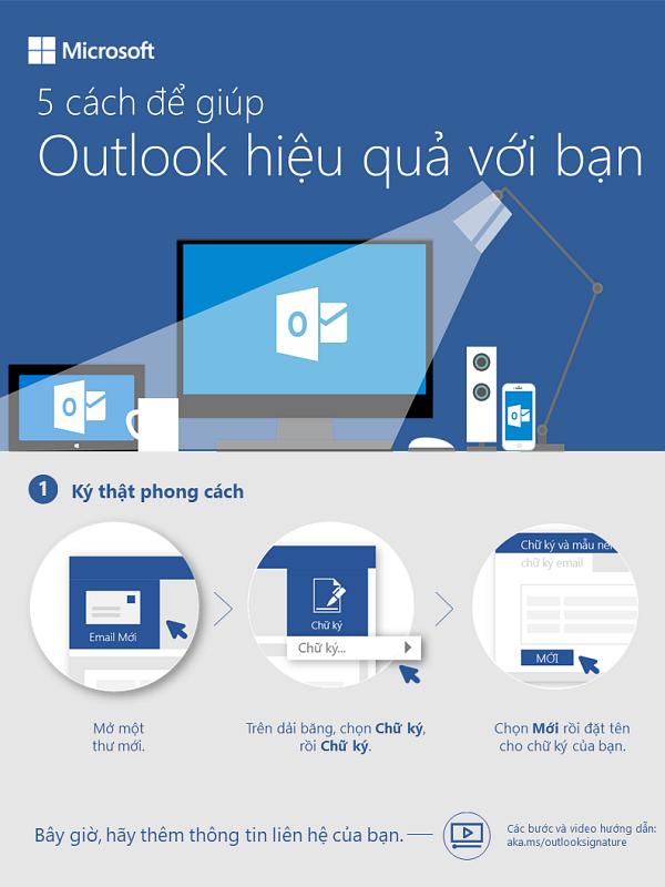 5 cách giúp bạn sử dụng hiệu quả Outlook