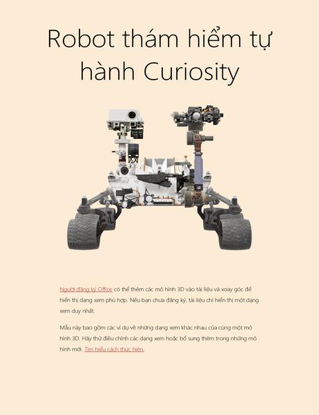 Báo cáo khoa học Word 3D (Mô hình Robot thám hiểm tự hành trên Sao Hỏa)