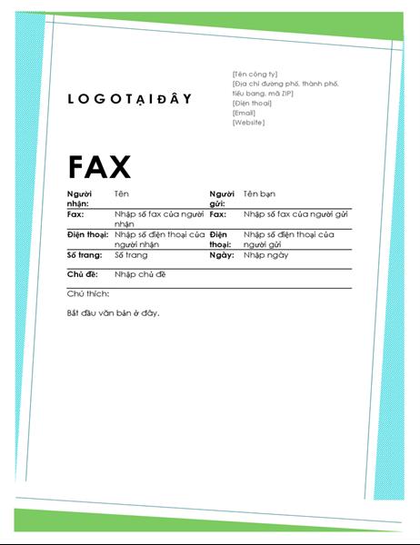 Thông tin bản fax hoạ tiết hìn hoạ