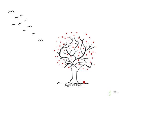 Thiệp chia buồn hình cây cối