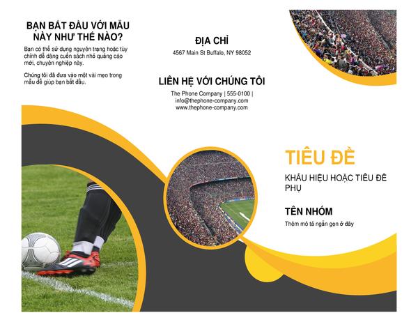 Sách nhỏ quảng cáo dành cho thể thao