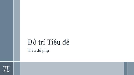 Bản trình bày giảng dạy toán học có số Pi (màn hình rộng)