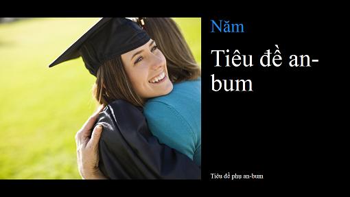 An-bum hình tốt nghiệp, màu đen (màn hình rộng)