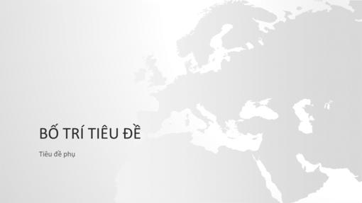 Chuỗi Bản đồ thế giới, bản trình bày châu Âu (màn hình rộng)