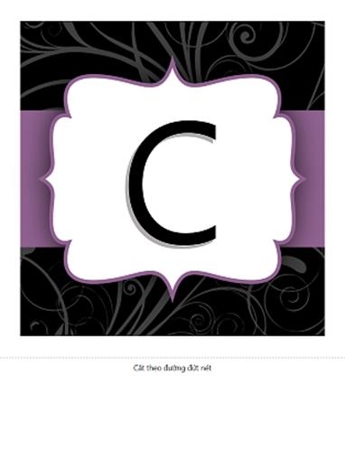 Biểu ngữ ngày kỷ niệm (thiết kế Ruy-băng Tím)