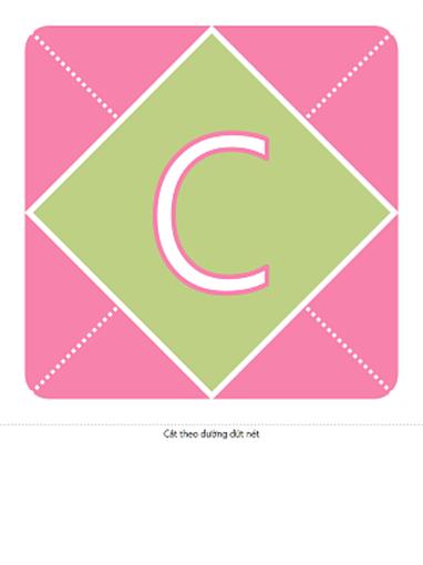Biểu ngữ Chào mừng Bé Gái (màu hồng, tím, xanh lá cây)