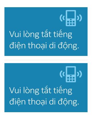 Áp phích lời nhắc tắt điện thoại di động (màu lam)