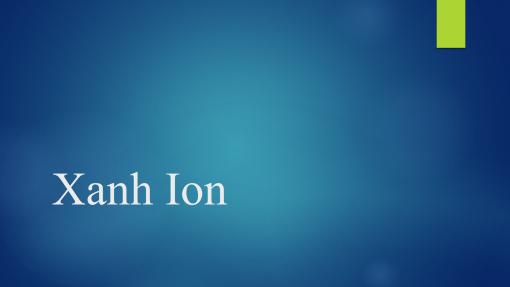 Xanh Ion