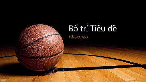 Bản trình bày với hình nền bóng rổ (màn hình rộng)