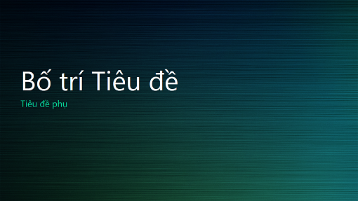 Bản trình bày kiểu vân kim loại màu xanh lục (màn hình rộng)