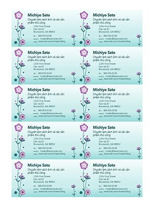 Danh thiếp (ảnh minh họa bông hoa, 10 danh thiếp mỗi trang)