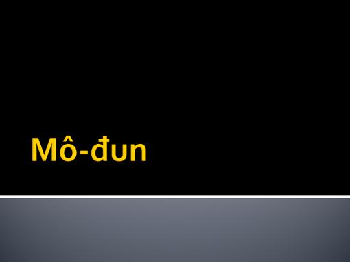 Mô-đun