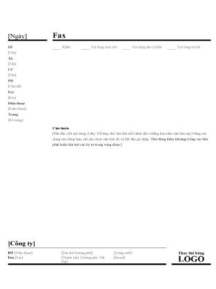 Mẫu tờ thông tin fax kinh doanh
