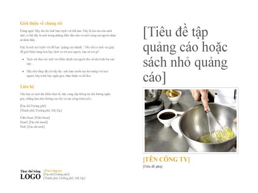 Sách nhỏ giới thiệu sản phẩm và dịch vụ