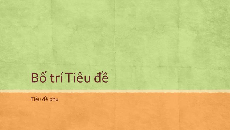 Bản trình bày tông màu trái đất (màn hình rộng)