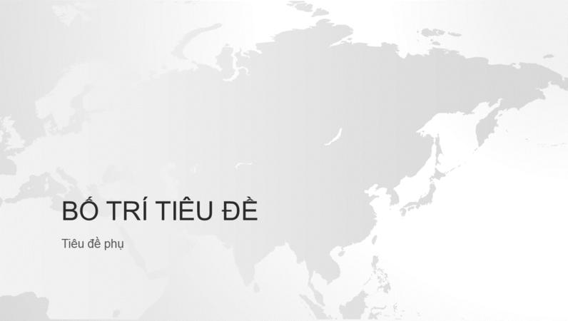 Bản trình bày lục địa Châu Á, chuỗi bản đồ thế giới (màn hình rộng)