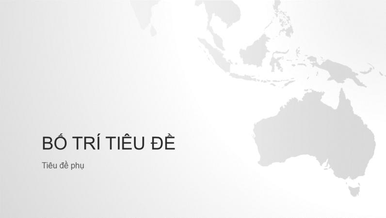 Chuỗi  bản đồ thế giới, bản trình bày châu Úc (màn hình rộng)