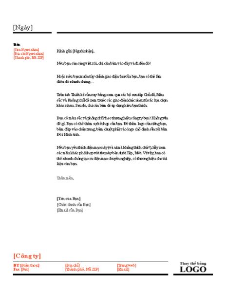 Tiêu đề thư (Thiết kế Đỏ và Đen)