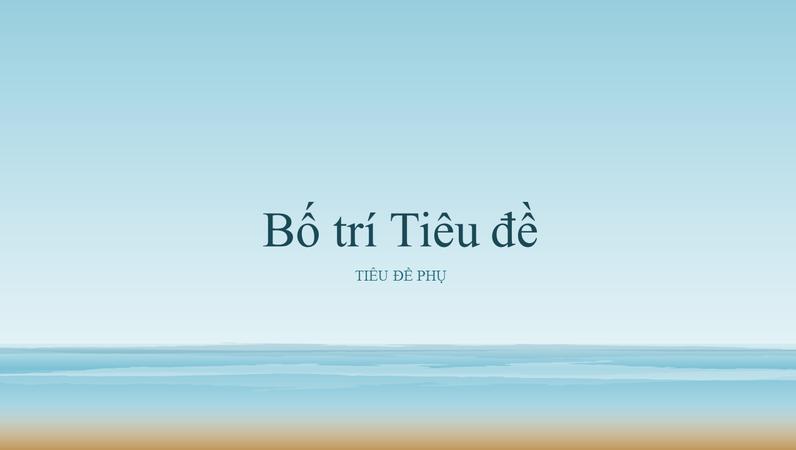 Bản trình bày với bức tranh về đại dương (màn hình rộng)