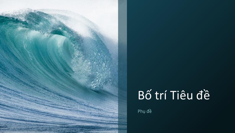 Bản trình bày có cảnh thiên nhiên với sóng đại dương (màn hình rộng)
