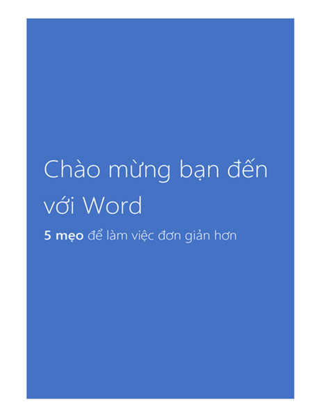 Chào mừng bạn đến với Word