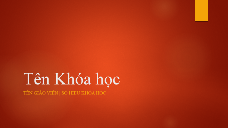Tổng quan về Khóa học