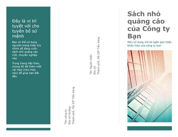 Sách nhỏ quảng cáo gập ba (màu xanh lam)