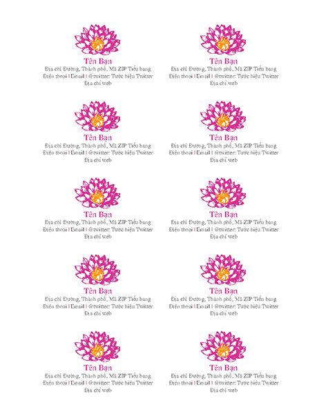 Danh thiếp cá nhân có hình hoa