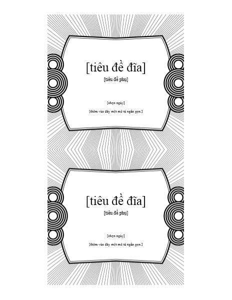 Nhãn Chèn CD (phù hợp với giấy Avery 693)