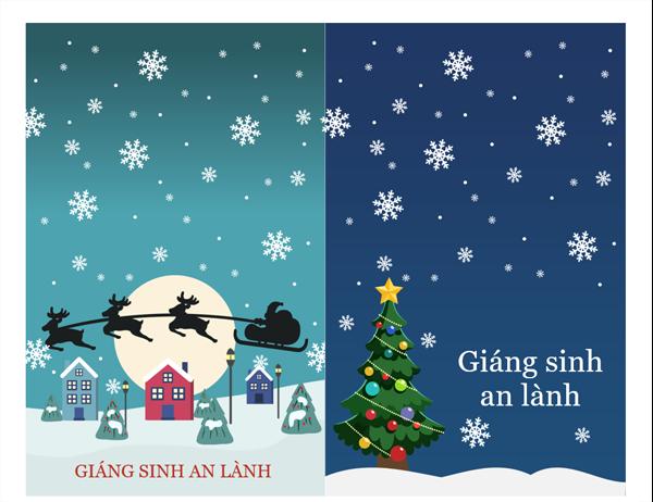 Thiệp ghi chú ngày lễ (Thiết kế mang hơi hướng Giáng sinh, 2 thiết kế mỗi trang)