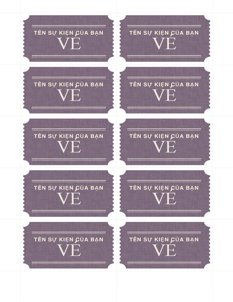 Vé cơ bản (10 vé mỗi trang)
