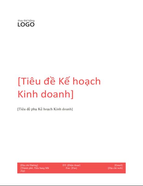 Kế hoạch kinh doanh (Thiết kế màu đỏ)