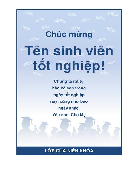 Tờ bướm chúc mừng tốt nghiệp (thiết kế Tiệc tốt nghiệp)
