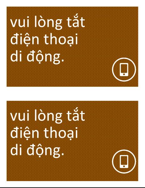Biểu tượng Cấm điện thoại di động (2 bảng trên một trang)