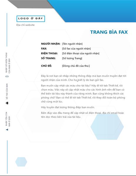 Bìa fax Hình lục giác