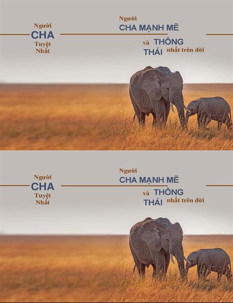 Thiệp hình chú voi thông minh vào Ngày của cha