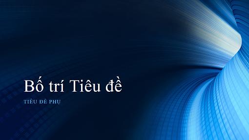 Bản trình bày kinh doanh dạng ống màu lam kỹ thuật số (màn hình rộng)