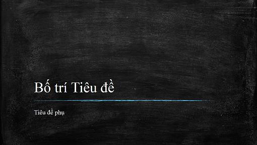 Bản trình bày giảng dạy bảng đen (màn hình rộng)