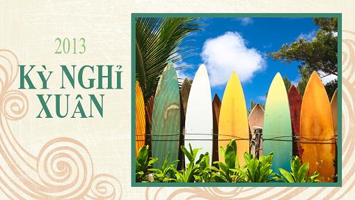 An-bum ảnh Nghỉ Xuân (thiết kế bãi biển, màn hình rộng)